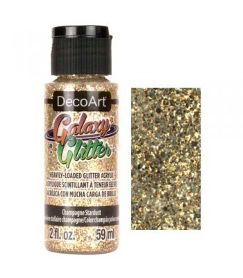 Champagne Starburst Galaxy Glitter Paint - 2oz
