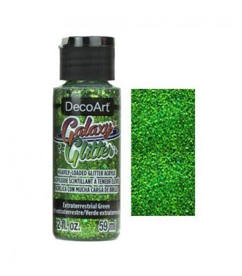Extraterrestrial Green Galaxy Glitter Paint - 2oz
