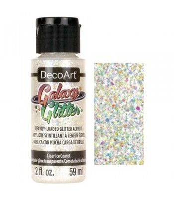 Clear Ice Comet Galaxy Glitter Paint - 2oz