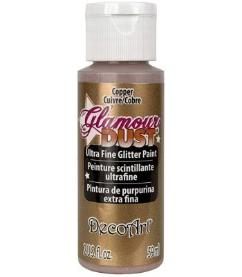 Copper Glamour Glamour Dust Ultra Fine Glitter Craft Paint 2oz.