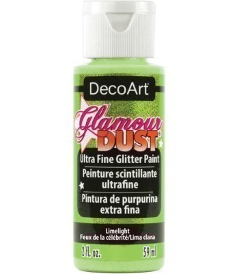 Limelight Glamour Dust Ultra Fine Glitter Craft Paint 2oz.