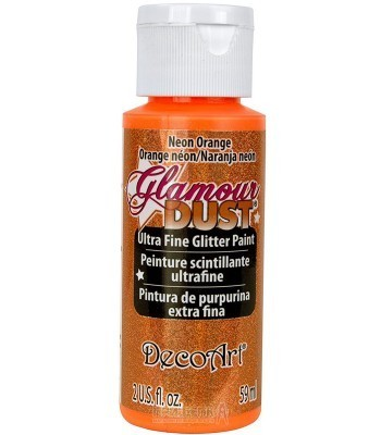 Neon Orange Glamour Dust Ultra Fine Glitter Paint 2oz.