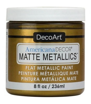 DecoArt Americana Decor Vintage Brass Matte Metallics Craft Paints. 8oz