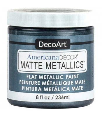 DecoArt Americana Decor Pewter Matte Metallics Craft Paints. 8oz