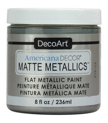 DecoArt Americana Decor Silver Matte Metallics Craft Paints. 8oz