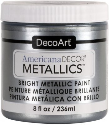 DecoArt Americana Decor Silver Metallics Craft Paints. 8oz