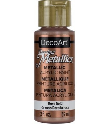 DecoArt Rose Gold Dazzling Metallic Craft Paints. 2oz