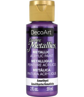 DecoArt Amethyst Dazzling Metallic Craft Paints. 2oz