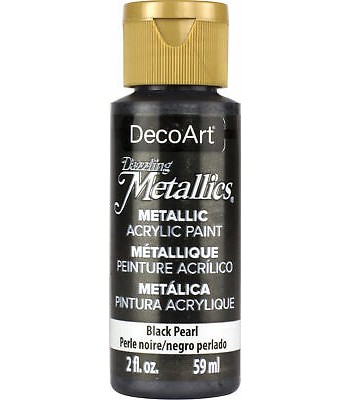 DecoArt Black Pearl Dazzling Metallic Craft Paints. 2oz