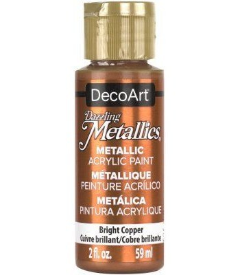DecoArt Copper Dazzling Metallic Craft Paints. 2oz