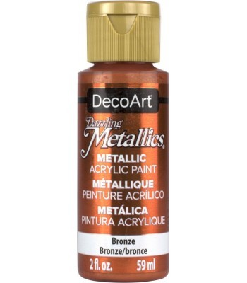 DecoArt Bronze Dazzling Metallic Craft Paints. 2oz