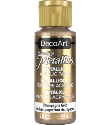 DecoArt Champagne Gold Dazzling Metallic Craft Paints. 2oz