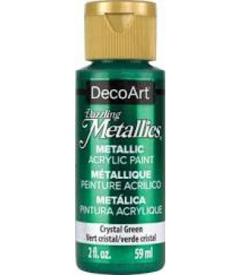 DecoArt Crystal Green Dazzling Metallic Craft Paints. 2oz