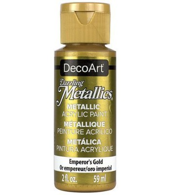 DecoArt Emperors Gold Dazzling Metallic Craft Paints. 2oz