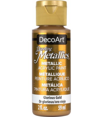 DecoArt Glorious Gold Dazzling Metallic Craft Paints. 2oz