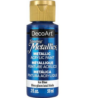 DecoArt Ice Blue Dazzling Metallic Craft Paints. 2oz