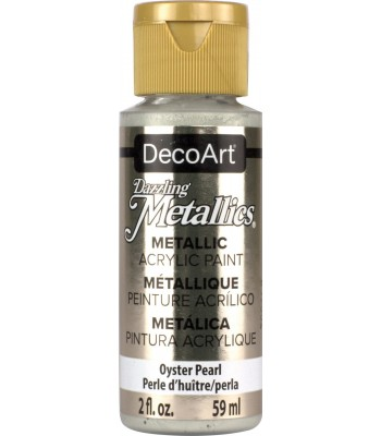 DecoArt Oyster Pearl Dazzling Metallic Craft Paints. 2oz