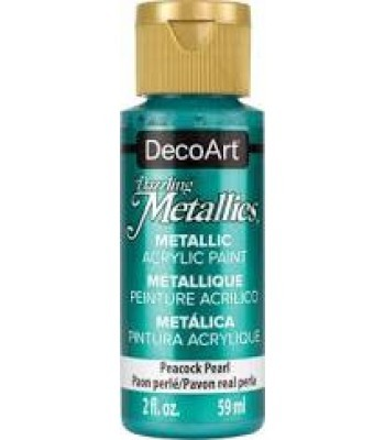 DecoArt Peacock Pearl Dazzling Metallic Craft Paints. 2oz