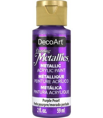 DecoArt Purple Pearl Dazzling Metallic Craft Paints. 2oz