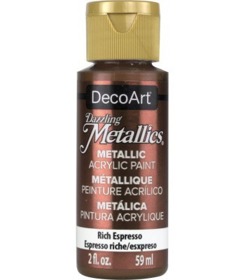 DecoArt Rich Espresso Dazzling Metallic Craft Paints. 2oz
