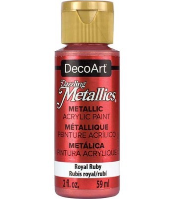 DecoArt Royal Ruby Dazzling Metallic Craft Paints. 2oz