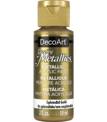 DecoArt Splendid Gold Dazzling Metallic Craft Paints. 2oz