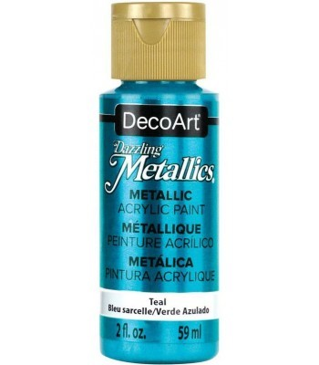 DecoArt Teal Dazzling Metallic Craft Paints. 2oz