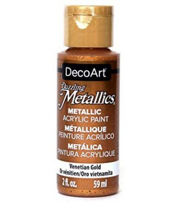 DecoArt Venetian Gold Dazzling Metallic Craft Paints. 2oz
