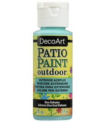 DecoArt Patio Paint - Blue Bahama 2oz