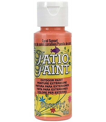 DecoArt Patio Paint - Coral Sunset 2oz