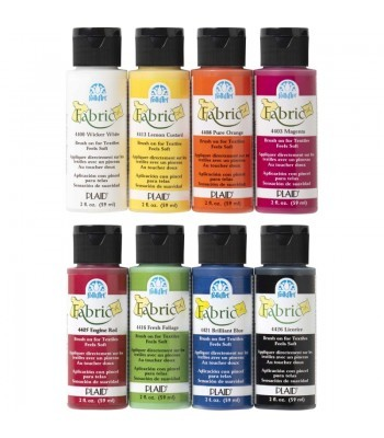 Plaid FolkArt Fabric Paint - 8 Value Pack 2oz