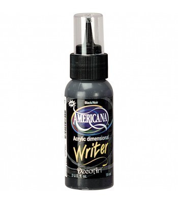 Americana 3D Acrylic Writer 2oz - Black