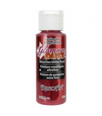 Sizzling Red Glamour Dust Ultra Fine Glitter craft Paint 2oz.