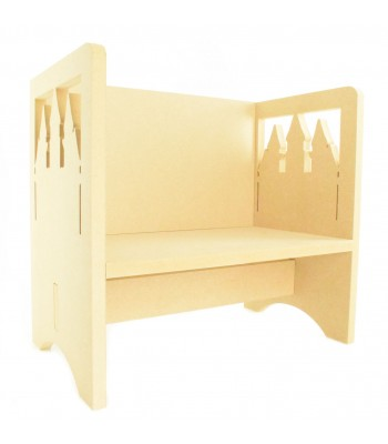 Routered 18mm MDF Quality Flat packed Princess Castle Novelty Chair