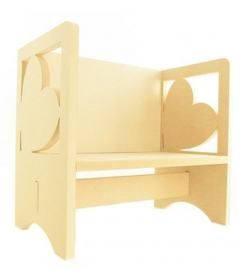 Routered 18mm MDF Quality Flat packed Heart Novelty Chair