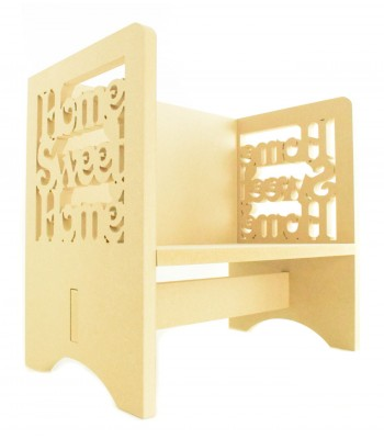 Routered 18mm MDF Quality Flat packed 'Home Sweet Home' Novelty Chair