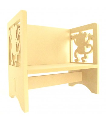 Routered 18mm MDF Quality Flat packed Cheeky Monkey Novelty Chair