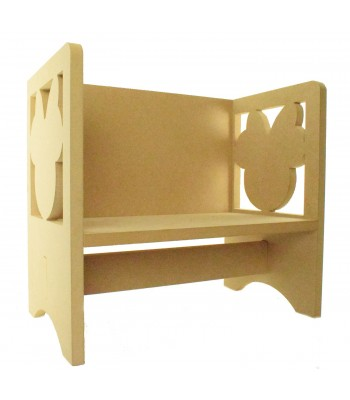 Routered 18mm MDF Quality Flat packed Mouse Head with Bow Novelty Chair