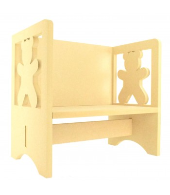 Routered 18mm MDF Quality Flat packed Teddy Bear Novelty Chair