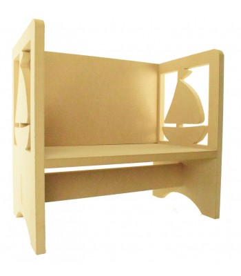 Routered 18mm MDF Quality Flat packed Sail Boat Novelty Chair