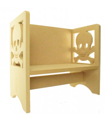 Routered 18mm MDF Quality Flat packed Pirate Skull Novelty Chair