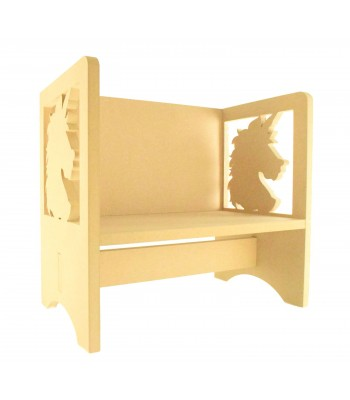 Routered 18mm MDF Quality Flat packed Unicorn Head Novelty Chair