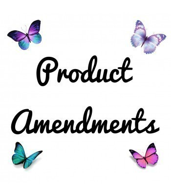Product Amendments