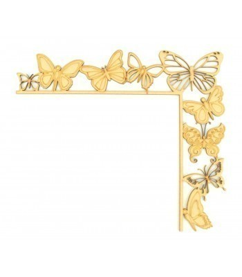 Laser Cut Tumbling Door Frame Decoration - Butterflies