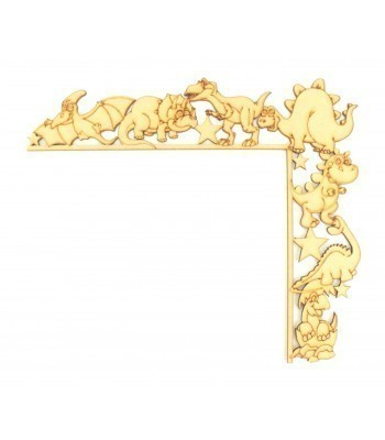 Laser Cut Tumbling Door Frame Decoration - Dinosaurs