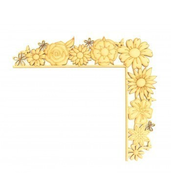 Laser Cut Tumbling Door Frame Decoration - Flowers
