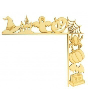 Laser Cut Tumbling Door Frame Decoration - Halloween Shapes