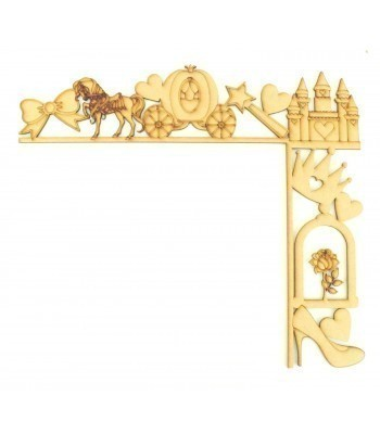 Laser Cut Tumbling Door Frame Decoration - Princess