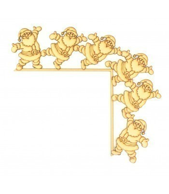 Laser Cut Tumbling Door Frame Decoration - Santa