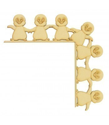 Laser Cut Tumbling Door Frame Decoration - Penguins